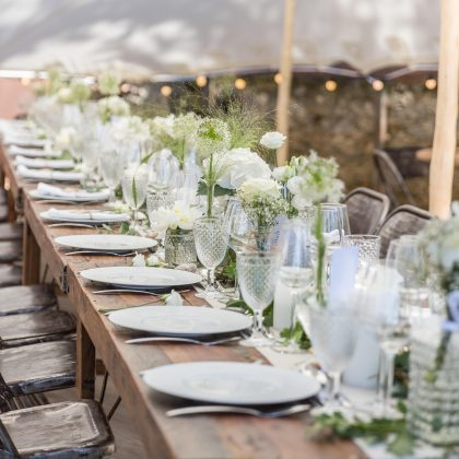 Décoration mariage greenery chic