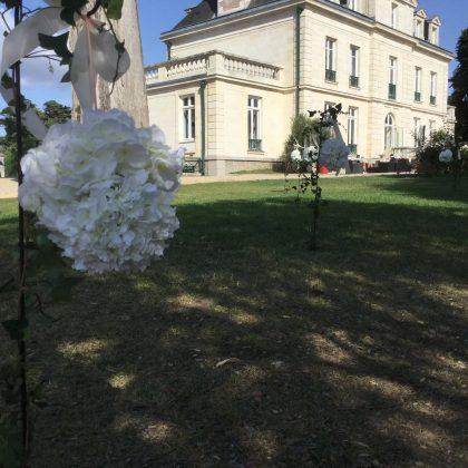 Décoration allée mariage
