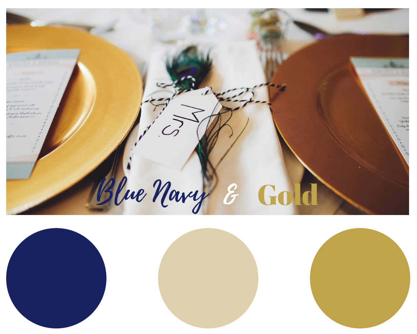 blue navy and gold