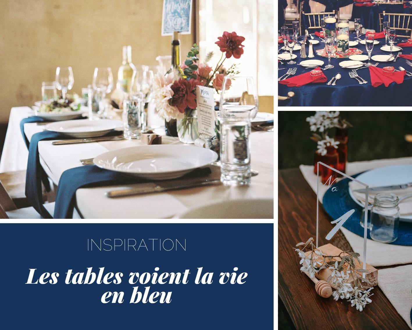 déco table navy blue