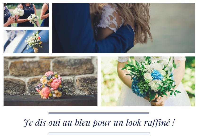 look mariage bleu navy