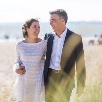 séance photo de couple plage